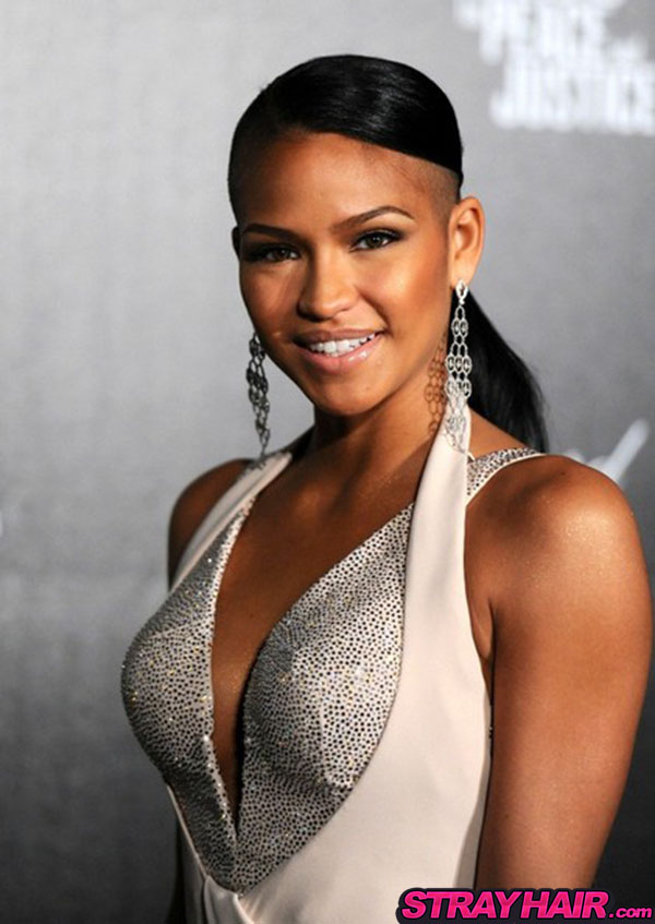 Cassie simple pony tail hair celebrity hairstyles