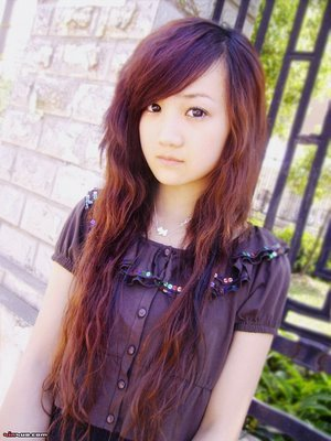 Emo hairstyle Girls long hair 4
