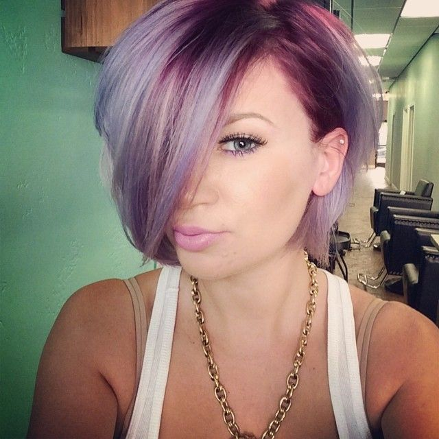 short twa hairstyles : Purple Hair Color Short Pictures to pin on Pinterest