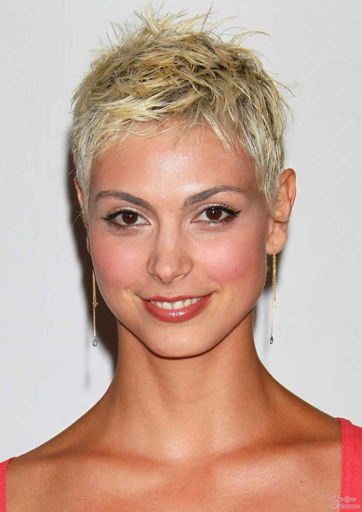 Morena Baccarin blonde hair pixie short