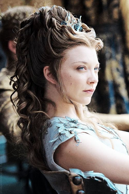 Natalie Dormer as Margaery Tyrell in Game of Thrones a queens hairstyle