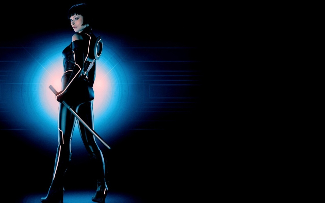 Olivia Wilde as Quorra in Tron Legacy 1280x800 wallpaper