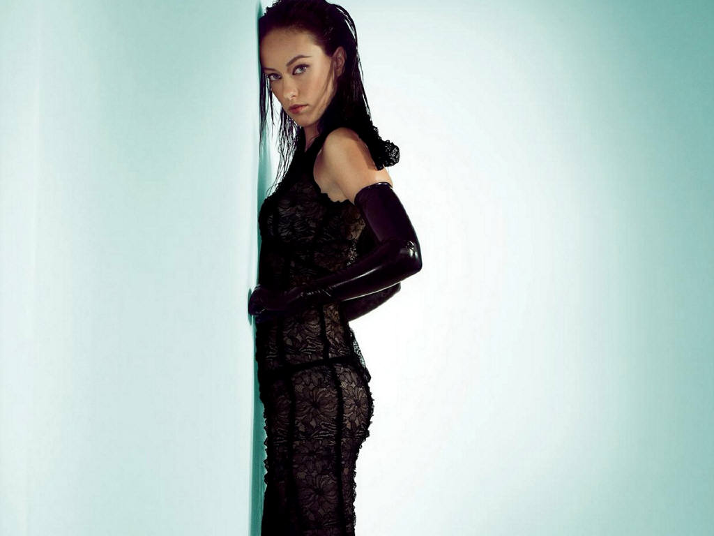 Olivia wilde long straight black hair