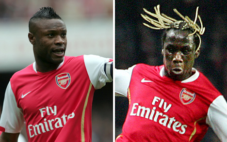 Bacary Sagna hairstyle worst football soccer hair