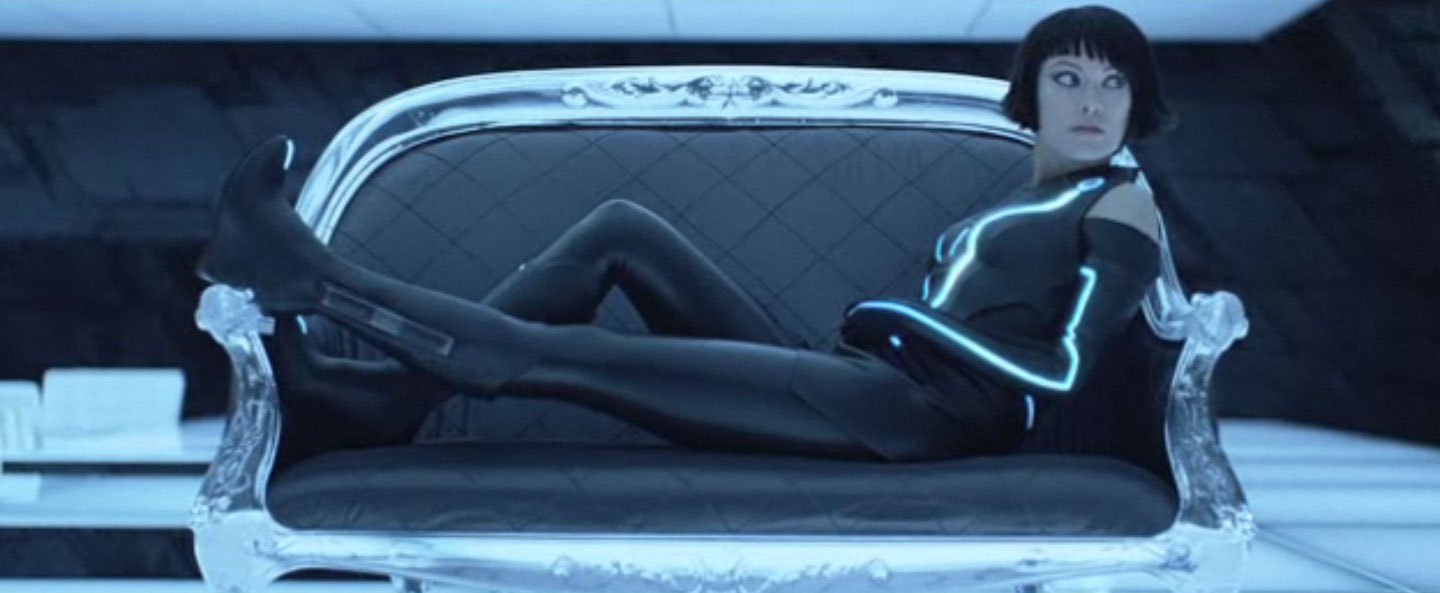 TRON olivia wilde on couch 2