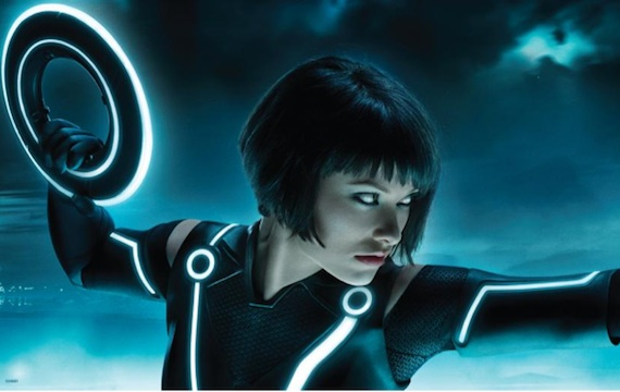 Tron Legacy Olivia Wilde bob cut hairstyle short black hair