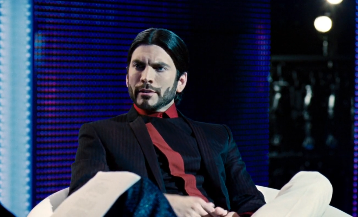 Wes Bentley as Seneca Crane the head game maker in the hungergames