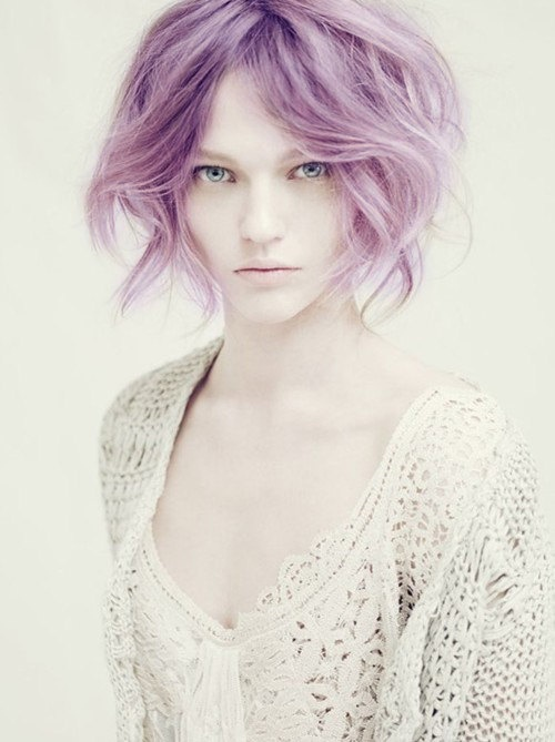 awesome short purple hair