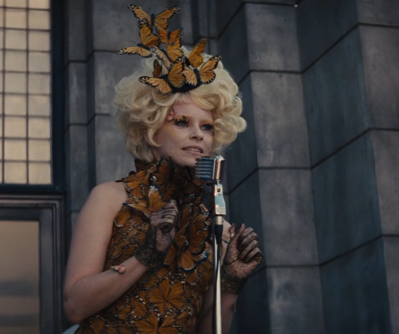 blonde butterfly hair the hunger games