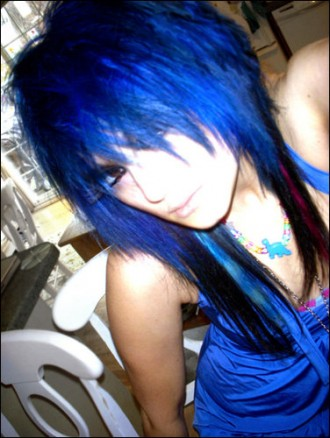 blue-black-scene hairstyle