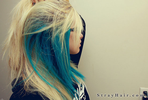Blue and blonde hair strayhair share this urmus Choice Image