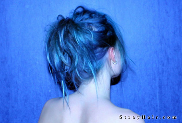 really nice color of blue hair