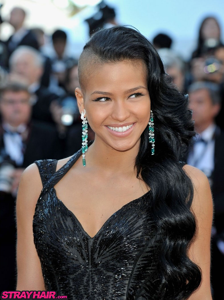 cassie at cannes film premiere great long wavy black hair