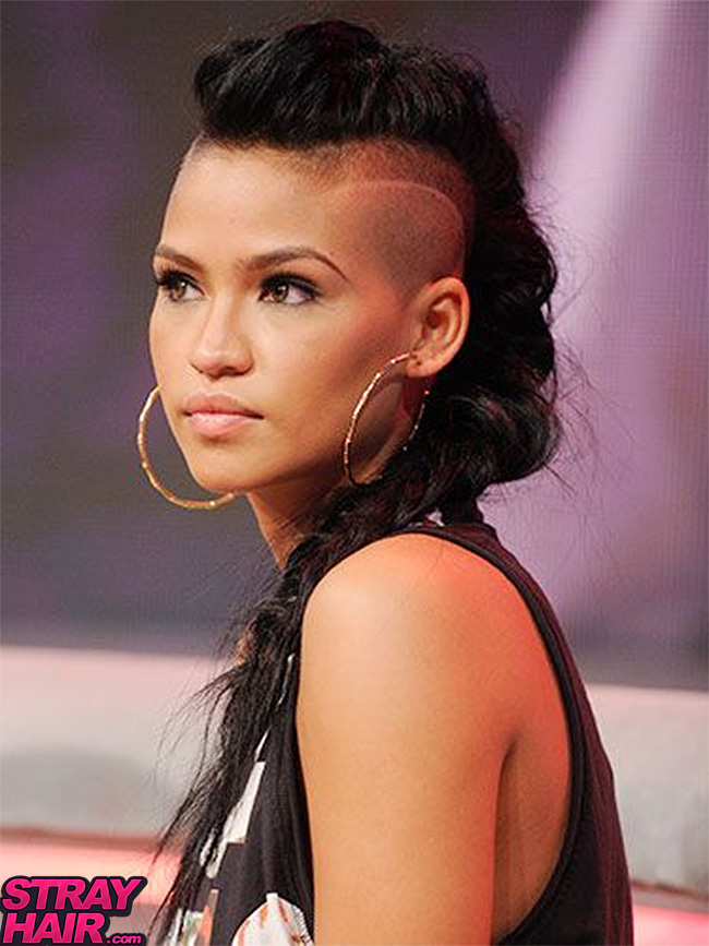 50 great cassie hairstyles photos strayhair cassie punk updo hairstyle with spiked accessories cassie shaved undercuts hair designs urmus Images