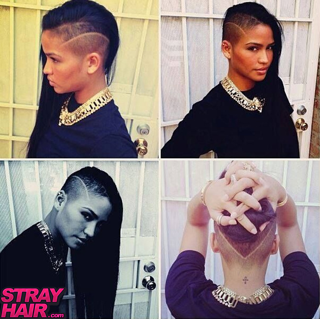 cassie undercut how to front sides and back V style haircut
