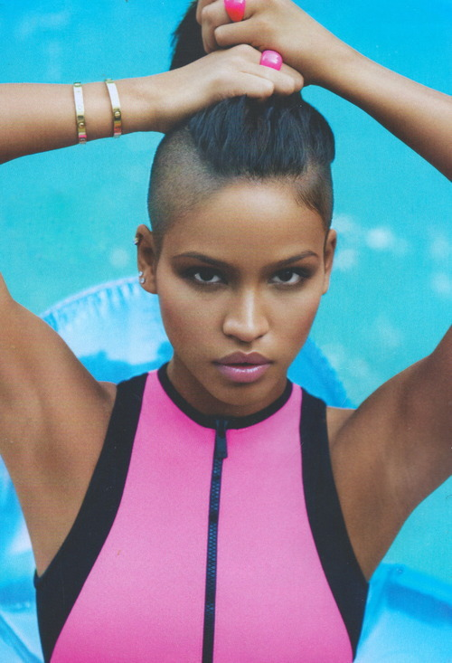 cassie ventura pulled back undercut hair