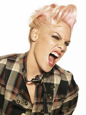 celebrity mohawk pink hairstyle