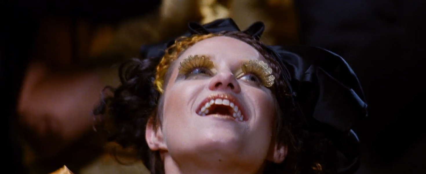 cool gold eyelashes the hunger games