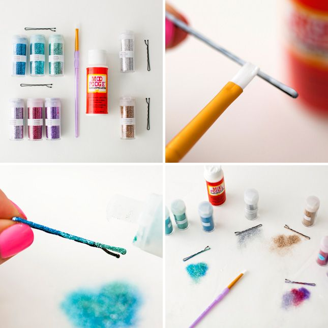 diy fun colored bobby pins