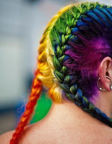 Rainbow Hair Color – StrayHair