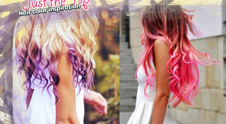 hair color inspiration - just the tip