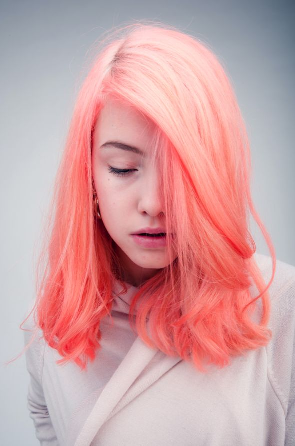 Peach Unique Hair Color Inspiration Strayhair