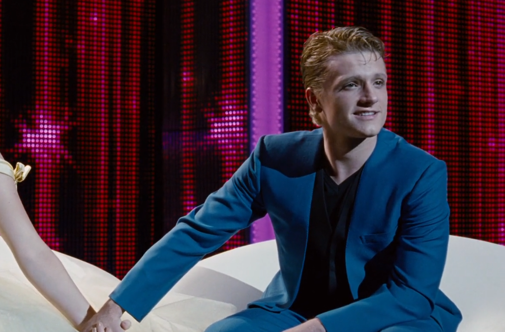 josh hutcherson as Peeta Mellark in the hungergames mens hairstyles