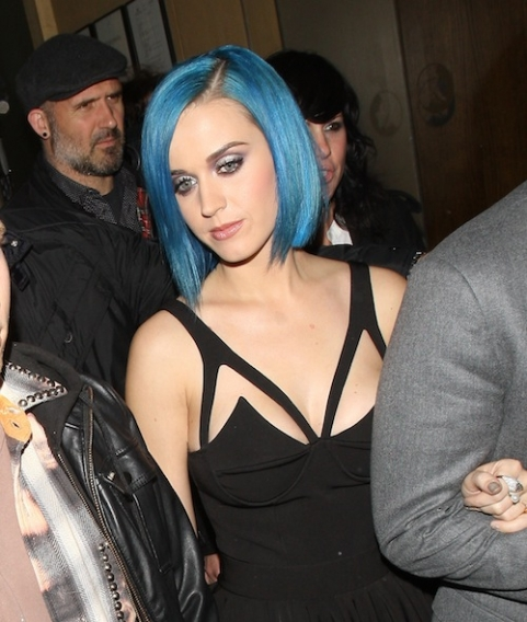 katy perry blue bob cut hairstyle hair