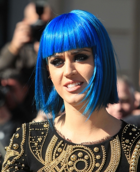 katy perry blue wig