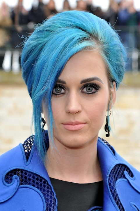 katy perry dyed blue hair