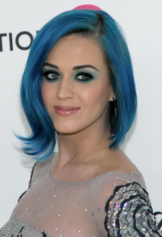 katy perry blue hairstyle