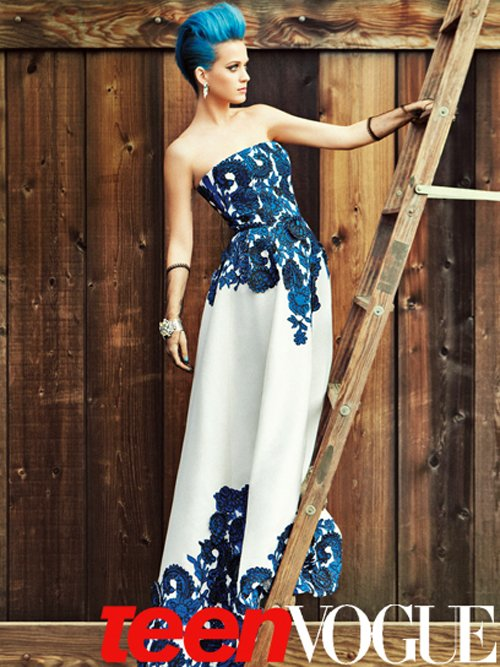 katy perry teen vogue blue style