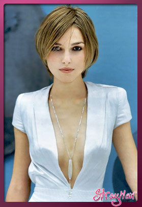 keira knightley cute bob cut