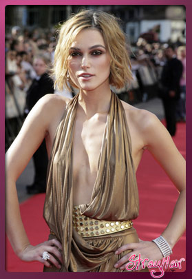 keira knightley short hair wavy look