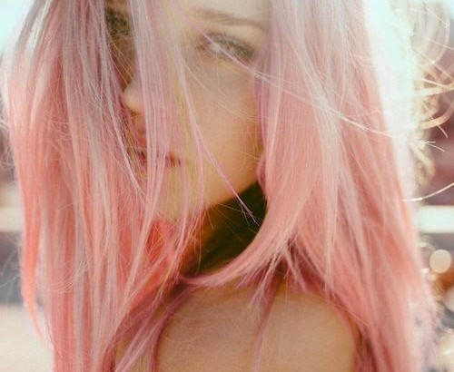 long straight pink light hair