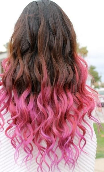 natural color to pink ombre hair