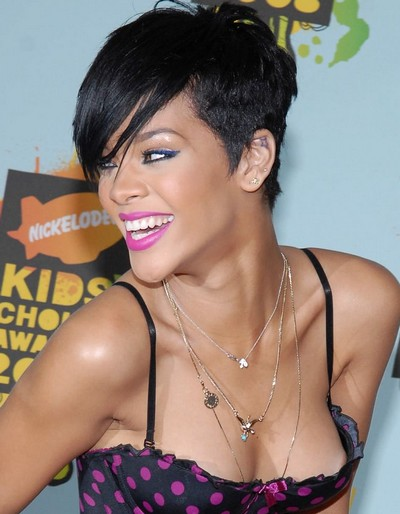 Tremendous 50 Great Rihanna Hairstyle Photos Strayhair Short Hairstyles For Black Women Fulllsitofus