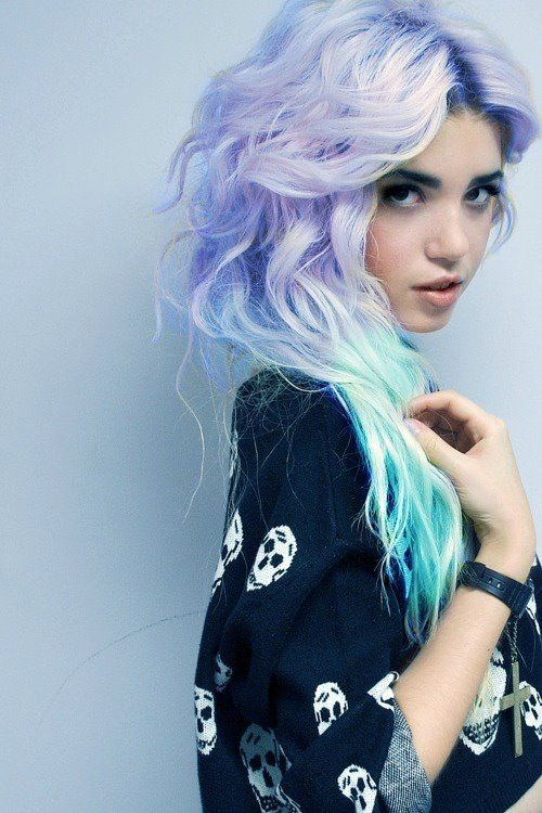 Daily Hair Spotting – lavender and teal ombre – StrayHair