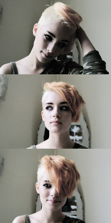 super cute short undercut hairstyle
