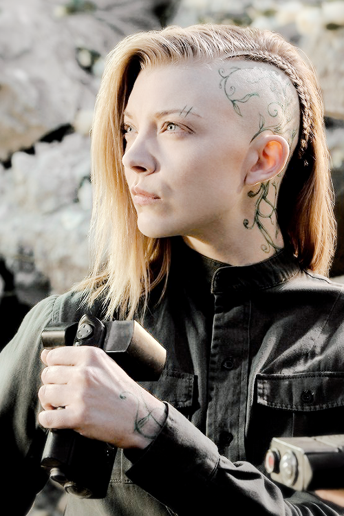 the hunger games natalie dormer awesome hairstyle shaved side with braid