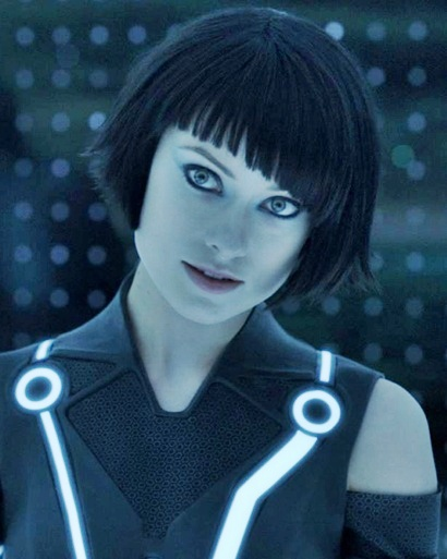 Olivia Wilde Tron Hairstyle Black Bob Cut – Quorra is ...