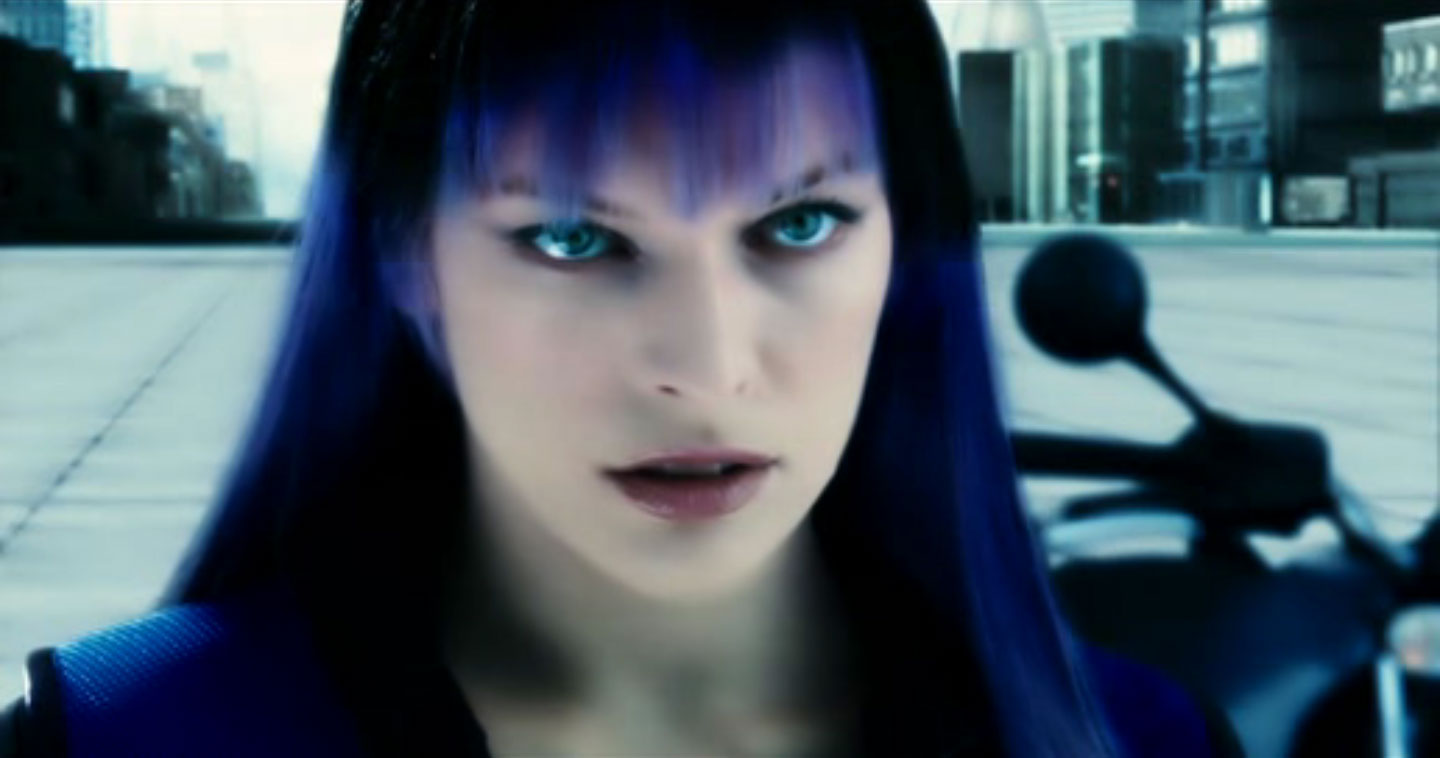 ultraviolet black and purple hair milla jovovich