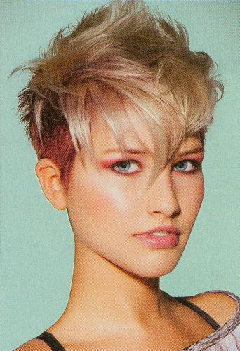 undercut hair colored top left blonde
