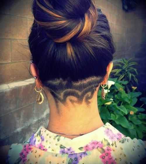 Hairstyles For Long Hair Design : 12 Nape Undercut Hairstyle Designs  StrayHair