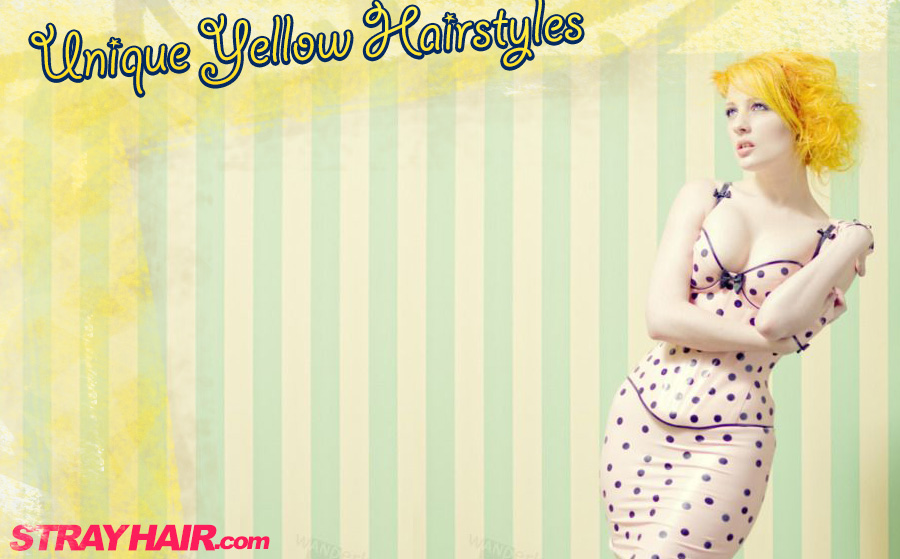 unique yellow hairstyles strayhair