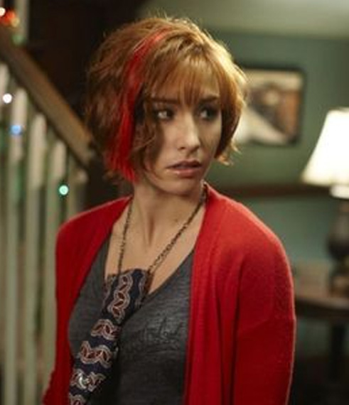 warehouse 13 Allison Scagliotti wavy hair with red streak