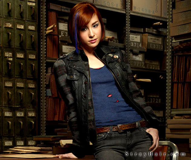 warehouse13 claudia blue hair streak