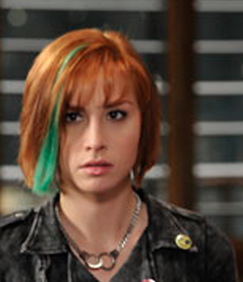 warehouse 13 Allison Scagliotti straight hair with green streak