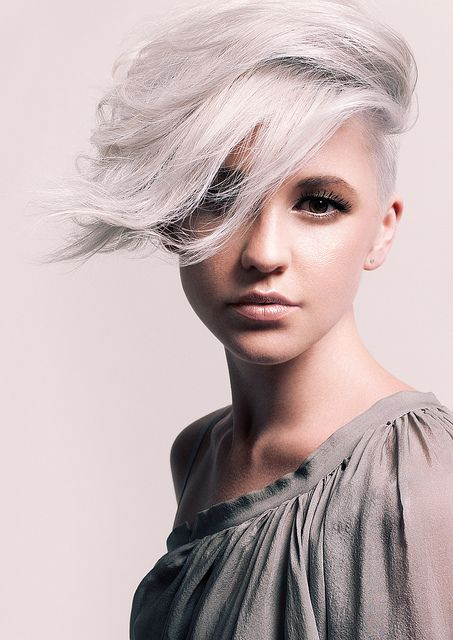white blonde undercut hairstyle