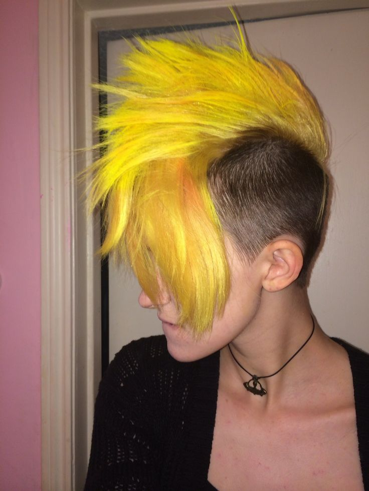 awesome yellow mohawk is awesome